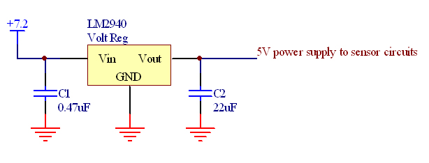 A Voltage Regulator Provided A 5 V Fixed Voltage Supply